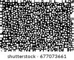 white geometric shape on black...   Shutterstock .eps vector #677073661