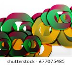geometric abstract background ... | Shutterstock . vector #677075485