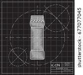 vector blueprint bottle with... | Shutterstock .eps vector #677077045