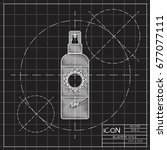 vector blueprint bottle with...   Shutterstock .eps vector #677077111