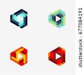 modern abstract design vector...   Shutterstock .eps vector #677084191