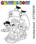 coloring book with pirates 2  ... | Shutterstock .eps vector #67708549