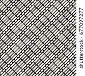 black and white irregular... | Shutterstock .eps vector #677097277