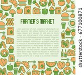 farmer's market concept with... | Shutterstock .eps vector #677100871