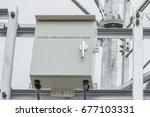 optical fiber distribution... | Shutterstock . vector #677103331