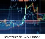 blur effect  graph forex  for... | Shutterstock . vector #677110564