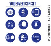 voiceover or voice command icon ... | Shutterstock .eps vector #677125639