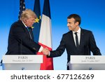 paris  france   july 13  2017   ...   Shutterstock . vector #677126269
