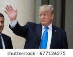 paris  france   july 13  2017   ... | Shutterstock . vector #677126275