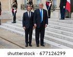 paris  france   july 13  2017   ...   Shutterstock . vector #677126299