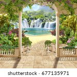 Digital Mural. Lovely Terrace...