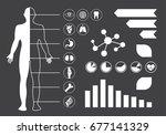 health infographic templates   Shutterstock .eps vector #677141329