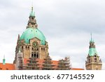Stock photo the new town hall the residence of the head of the municipal administration hannover lower 677145529