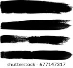 grunge paint stripe . vector... | Shutterstock .eps vector #677147317