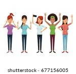 white background with colorful... | Shutterstock .eps vector #677156005