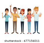 white background with colorful... | Shutterstock .eps vector #677156011