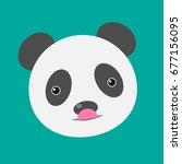 panda icon. vector illustration.... | Shutterstock .eps vector #677156095