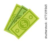 dollar bill money icon image  | Shutterstock .eps vector #677159365