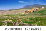 hierapolis  an ancient city...   Shutterstock . vector #677163889