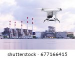 pollution sensor drone flying... | Shutterstock . vector #677166415