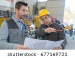 industrial manager and worker...