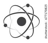 model atom concept for... | Shutterstock .eps vector #677170825