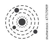 solar system icon  vector... | Shutterstock .eps vector #677170909