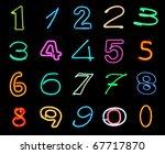 neon numbers | Shutterstock . vector #67717870