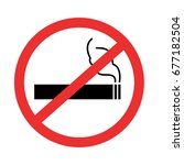no smoing sign with isolated... | Shutterstock .eps vector #677182504