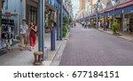 tokyo  japan   july 13th  2017. ... | Shutterstock . vector #677184151