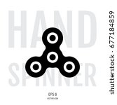 hand spinner icon isolated on... | Shutterstock .eps vector #677184859