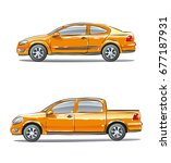 set of vehicles with different... | Shutterstock . vector #677187931