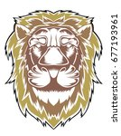 lion head illustration | Shutterstock .eps vector #677193961