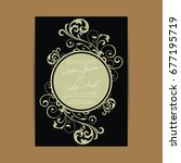wedding invitation card with... | Shutterstock .eps vector #677195719