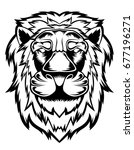 lion head illustration | Shutterstock .eps vector #677196271