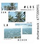 photo print los angeles beach... | Shutterstock . vector #677200951