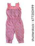 fashionable overalls for a baby ... | Shutterstock . vector #677202499