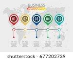 business data visualization.... | Shutterstock .eps vector #677202739