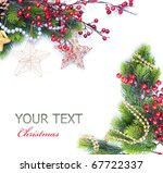 christmas and new year border | Shutterstock . vector #67722337
