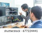 businessmen trading stocks... | Shutterstock . vector #677224441