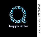 letter q of the alphabet ... | Shutterstock .eps vector #677224861