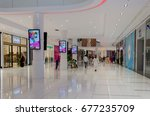 packages shopping mall... | Shutterstock . vector #677235709