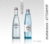 mineral still or sparkling... | Shutterstock .eps vector #677236939