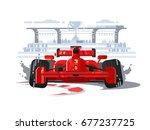 sport car in race | Shutterstock .eps vector #677237725