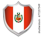a shield illustration with the... | Shutterstock .eps vector #677257549