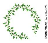 round green leaves vine... | Shutterstock . vector #677260891