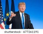 paris  france   july 13  2017   ...   Shutterstock . vector #677261191