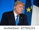 paris  france   july 13  2017   ...   Shutterstock . vector #677261221