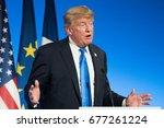 paris  france   july 13  2017   ...   Shutterstock . vector #677261224