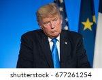 paris  france   july 13  2017   ...   Shutterstock . vector #677261254